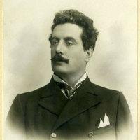 Giacomo Puccini, fotografia di Luigi Montabone, fine 1800