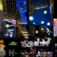 collage luci d'artista