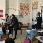 Il Sindaco di Benevento Clemente Mastella in visita alla Scuola Primaria Bilingue.