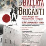 """Ritorna la """"Ballata dei Briganti"""". A Solopaca due giorni di appuntamenti culturali e musicali a cura della Proloco"""