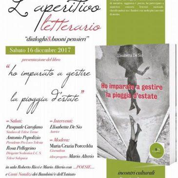 """Telese Terme: Elisabetta De Sio ospite dell'aperitivo letterario """"dialoghi&buonipensieri"""""""