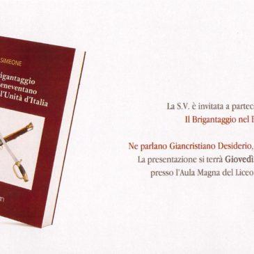 Il Brigantaggio nel Beneventano dopo l'Unità d'Italia