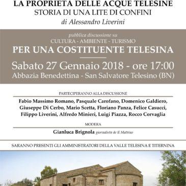 Una nuova costituente telesina. Presentazione del libro di Alessandro Liverini e dibattito su cultura, ambiente e turismo