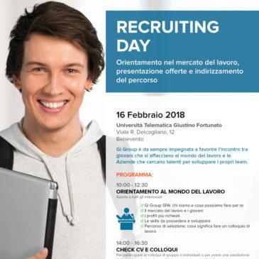 Recruiting day, tavola rotonda con il mondo del lavoro