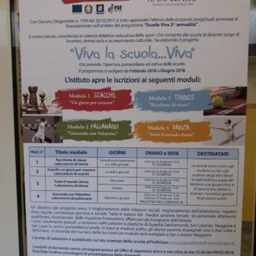 """Guardia Sanframondi (Bn): Al via le attività della seconda annualità del progetto """"Viva la scuola… Viva"""""""