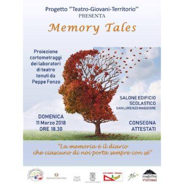 """San Lorenzo Maggiore, il Progetto """"Teatro – Giovani – Territorio"""" inaugura """"Memory Tales"""" e """"Fotografia e racconto""""."""