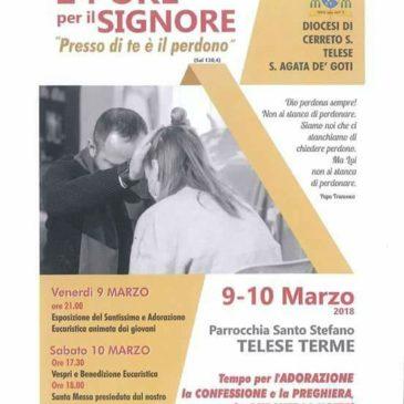 """Venerdì 9 e sabato 10 marzo a Telese Terme la """"24 Ore per il Signore"""" diocesana"""