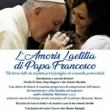 Ufficio Famiglia, mercoledì 30 maggio a Telese Terme si chiude con un convegno conclusivo il cammino di approfondimento sull'Amoris Laetitia