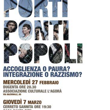 Scuola d'Impegno Socio-Politico, dopo il tema del lavoro si parlerà di accoglienza mercoledì 27 febbraio e giovedì 7 marzo