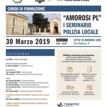 Amorosi, nella giornata di domani un seminario di formazione per la polizia locale