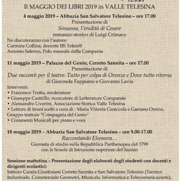 """L' Associazione Storica della Valle Telesina partecipa al """"Maggio dei libri"""""""