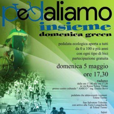 """Telese Terme, domenica 5 maggio: """"Pedaliamo Insieme, domenica green"""""""