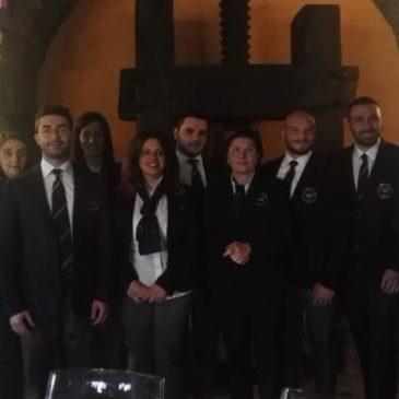 A Castelvenere la cerimonia di consegna di attestati e tastevin ai nuovi sommelier della delegazione di Benevento dell'AIS