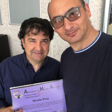 """Conferito il premio """"Behind the Scenes"""" all'artista Nicola Pica"""