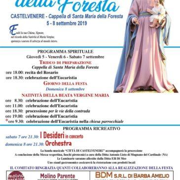 Castelvenere (Bn) tutto pronto per i Festeggiamenti in onore della Madonna della Foresta