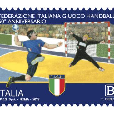 Emissione francobolli Federazione Ginnastica d'Italia e Federazione Italiana Giuoco Handball