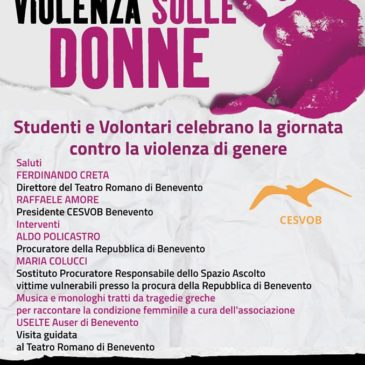 Benevento. Giornata contro violenza sulle donne, gratis a teatro e museo