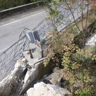 Ispezione del monte sovrastante la Strada provinciale Cerreto Sannita – Cusano Mutri – Pietraroja chiusa al traffico dal 5 novembre