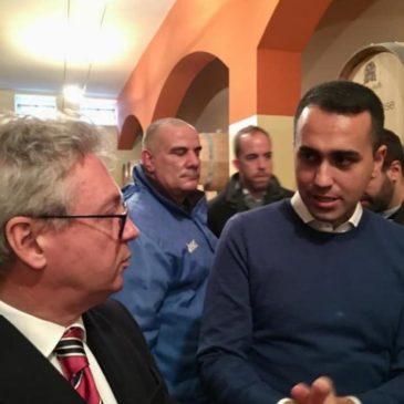 """Ministro Di Maio a Guardia Sanframondi. Amedeo Ceniccola: """"Un'occasione sprecata""""."""