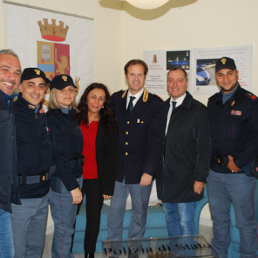 Telese Terme. Il sindaco Carofano ringrazia il vice questore Tranquillo per i risutati ottenuti