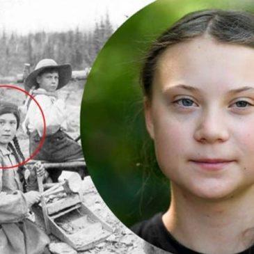 Greta Thunberg una viaggiatrice del tempo? Una foto del 1898 scatena le teorie del complotto