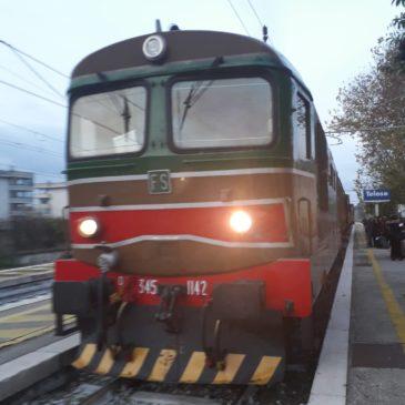 È partito da Telese il treno storico della Pace per Pietrelcina e Assisi