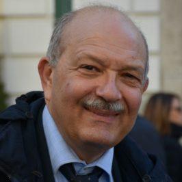 Alfredo Pietronigro e il manifesto elettorale al Centro Studi del Sannio