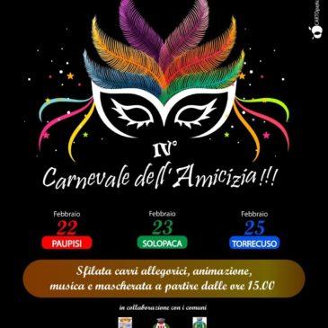 Valle Telesina- Vitulanese. Torna il carnevale dell'amicizia giunto alla quarta edizione