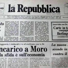Accadde oggi: 14 gennaio 1976, esce il primo numero della Repubblica