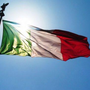 Oggi, il tricolore italiano in segno di lutto nazionale