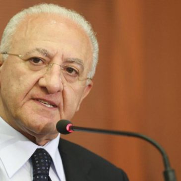 Campania: ultimissime notizie dal Presidente De Luca