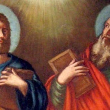 Oggi è la festa dei Ss Pietro e Paolo, apostoli che hanno amato Gesù