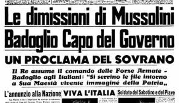 Accadde oggi: 25 luglio 1943, la caduta del Fascismo