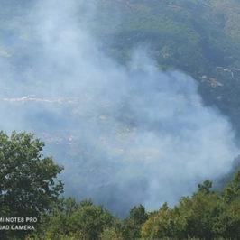 Nel pomeriggio incendio a Civitella Licinio