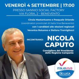 Nicola Caputo (Italia Viva) oggi nel Sannio.