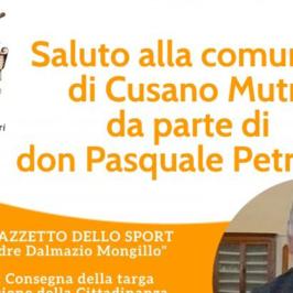Cusano Mutri: il saluto di don Pasquale Petronzi alla comunità