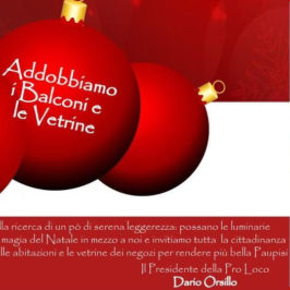 """Paupisi, al via """"Accendi il Natale"""""""