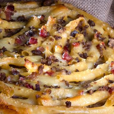 Immagini dal Sannio: la scarpella di Castelvenere, ricca lasagna bianca carnevalesca