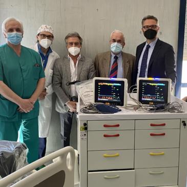 Donati ventilatori, lettini e monitor polmonari agli ospedali di Piedimonte…