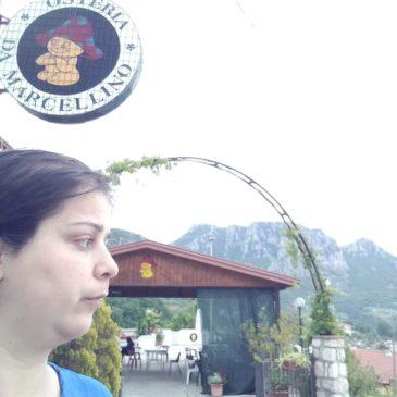 Immacolata Petrillo, per la ripartenza economica di Cusano Mutri, visita l'Osteria Marcellino