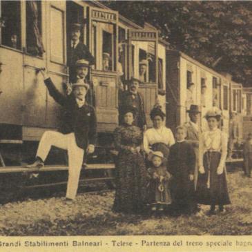 Immagini dal Sannio: Telese, il treno dei bagnanti e il turismo dell'acqua